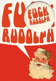 rudolph humorous christmas card with badge by bsg cards