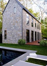 Gable Roof House Plans Photos Hgtv Contemporary Stone House Exterior With Gable Roof