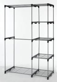 Wardrobe With Shelves by Closet Organizer Storage Rack Portable Clothes Hanger Home Garment