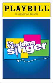 playbill wedding program the wedding singer broadway al hirschfeld theatre tickets and