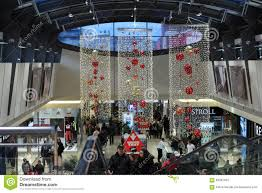 christmas decorations at shopping center gallery vankovka