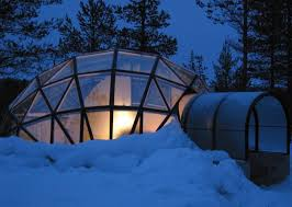 igloo thermal glass igloos offer views of the northern lights at