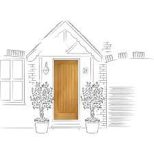 Oak Exterior Door by Xl Joinery Pre Finished Suffolk Oak Exterior Door U2013 Next Day