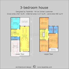 ground floor first floor home plan architectural drawing building designs sketch with measurement