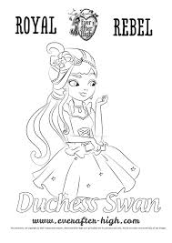 duchess swan coloring page ever after high