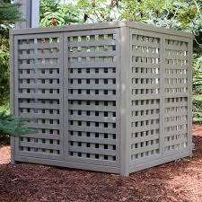 Home Depot Outdoor Decor To Hide My Heat Pump Then For My Decorative Fencing Use The Same