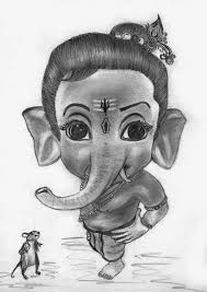 pencil sketch of ganesha drawing sketch library