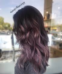 purple balayage ombré purple hair metallic purple