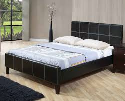 Black Leather Sleigh Bed Home Beds Cheap Beds Kingsbury Faux Leather Sleigh Bed Discount