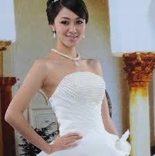 pearl necklace wedding dress images Newest arrive design boutique simple and elegant bride princess jpg