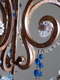 Vintage Wrought Iron Chandeliers Florence Vintage Wrought Iron Birdcage Chandelier Murano Drops