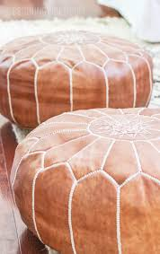 Cheap Pouf Ottoman How To Buy Leather Moroccan Poufs On The Cheap Boho Leather Ottomans