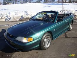 1998 convertible mustang 1998 green satin metallic ford mustang v6 convertible