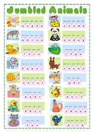 jumbled animals interactive worksheet the animals worksheets