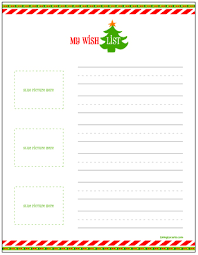 santa gift list free printable christmas wish lists for kids living locurto a