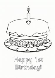 1st birthday cards coloring pages for kids coloring point