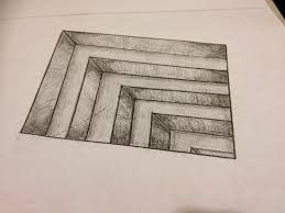 simple 3d drawing drawing of sketch