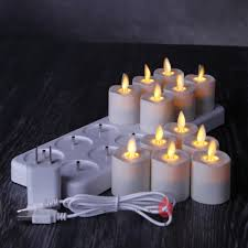 led tea lights with timer rechargeable flameless led tea lights votive candles with timer 1 5