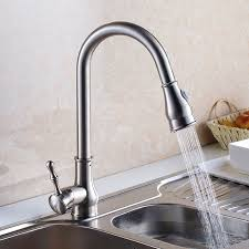 luxury gold brushed nickel kitchen sink water tap brass sink