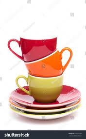 three coloured coffee mugs on top stock photo 111430709 shutterstock