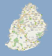 World Map With Cities by Detailed Road Map Of Mauritius With Cities And Villages