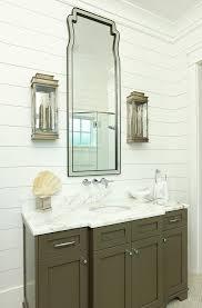 Wainscoting Bathroom Vanity Shiplap Wainscoting Bathroom Tropical With Gray Vanity Themed Bath