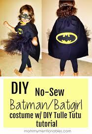 diy no sew batman batgirl costume diy tulle tutu diy