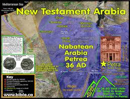Arabian Desert Map Mt Sinai In Arabia First Century Arabia Was The Nabatean Kingdom