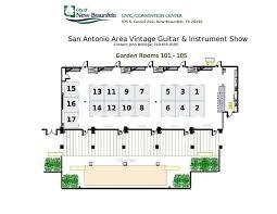 san antonio convention center floor plan san antonio area vintage guitar instrument show