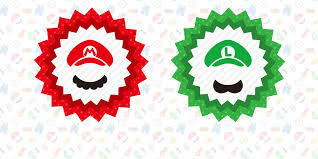 mario luigi instant disguise kit printable hats u0026 mustaches