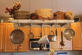 kitchen island hanging pot racks simple racks that can improve your home u0027s storage capacity