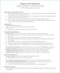 Resume Sle After School Program preschool skills resume kantosanpo