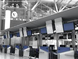 passenger check in desk for airport vnukovo airports and