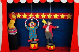 circus diorama and circus puppet theater craft kids crafts