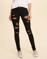 Hollister Skinny Jeans Mens Stylish Womens Hollister Low Rise Super Skinny Jeans In Black