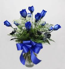 blue roses 1 doz fancy blue roses in san jose ca valley florist