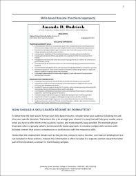 Resume Functional Skills Project Based Resume Sports Marketing Resume Head Athletic