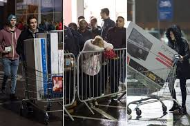 uk black friday black friday heavy security orderly queues and no sign of