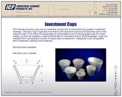 Seeking Fused Cast Investment Cast Industrial Ceramic Products