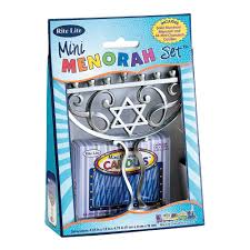 rite lite menorah rite lite judaica mini aluminum menorah includes mini