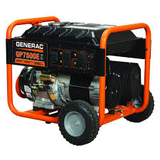 generac 7 500 watt gasoline powered electric start portable