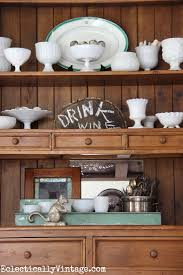 Decorating A Hutch Decorating With Collections Year Round