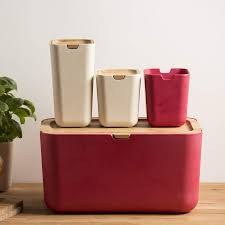 typhoon nubu red small kitchen storage canister 12cm select homeware