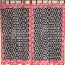 Maroon Curtains Block Print Maroon Black Curtains 2 Paisley Border Window