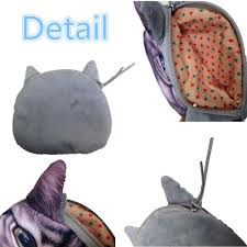 kids cute cat face zip wallet purse coin bag card holder clutch
