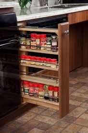 Flat Spice Rack Glittering Cabinet Pantry Storage Wood With Antique Brushed Nickel