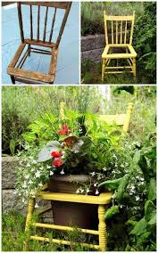 189 best chair planters images on pinterest garden chairs