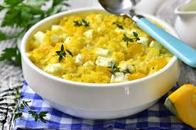 cuisine milet spicy millet casserole with pumpkin and feta by archana s kitchen