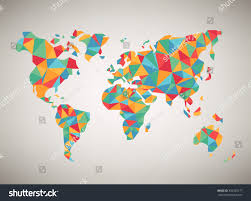 World Map Vector World Map Vector Cool Abstract Colorful Stock Vector 392320177
