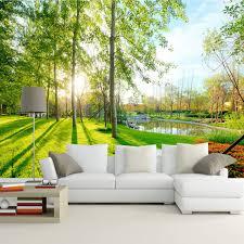 3d mural nature landscape sunshine forest wall mural custom photo 3d